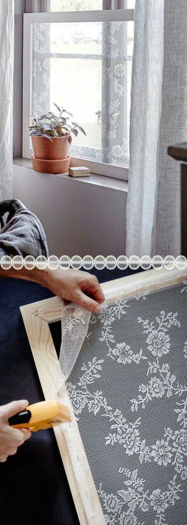Lace DIY Window screen