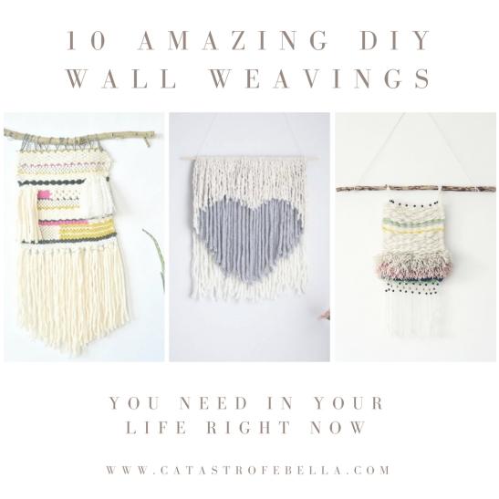 10 Amazing DIY Wall Weavings