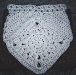 crochet boho bag before