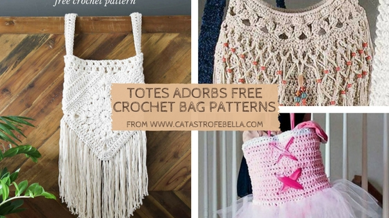 free crochet totes