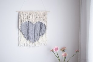 heart non weaving wall hanging