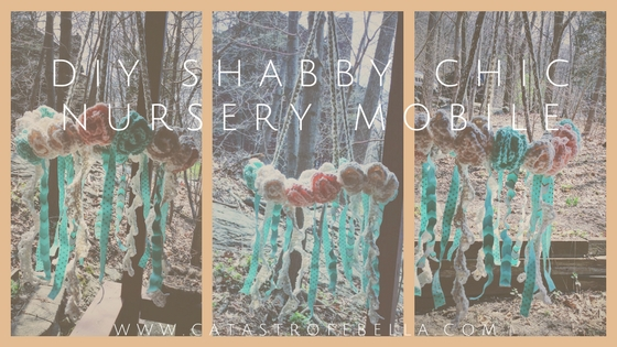 shabby chic diy nursery mobile